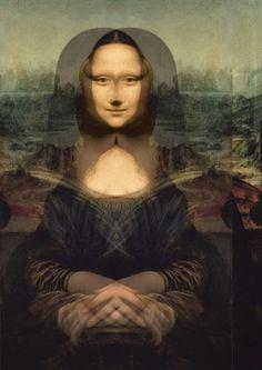 Mona Lisa, or Portrait of Mona Lisa or even simply Mona L … – Eye Ideas Diy Halloween Decorations, Halloween Diy, Mona Lisa Secrets, Lisa Gherardini, La Madone, Mona Lisa Parody, Mona Lisa Smile, Alien Art, Art For Art Sake