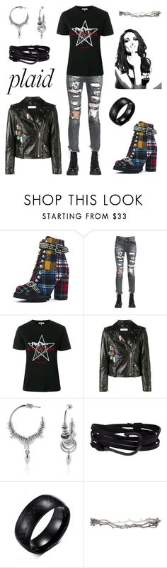 """Plaid"" by scaniapower ❤ liked on Polyvore featuring Jeffrey Campbell, R13, McQ by Alexander McQueen, Golden Goose, Meadowlark, MIANSAI, Pearls Before Swine, Whiteley, contest and plaid"