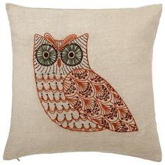 Owl Pillow Pinned by www.myowlbarn.com