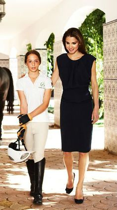 Queen Rania With Princess Iman for Vanity Fair Spain
