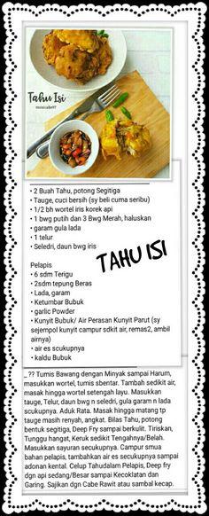 Tahu isi Indonesian Recipes, Indonesian Food, Asian Recipes, Cake Recipes, Snack Recipes, Cooking Recipes, Tahu Isi, Egg Dish, Simply Recipes