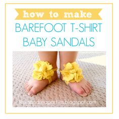 How to Make Baby Barefoot Sandals by Tutus & Tea Parties from U-CreateCrafts.com #baby #diy #sandals