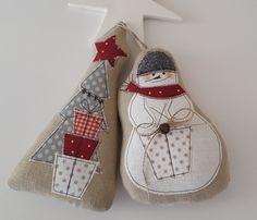 Schneemann+Weihnachtsbaum+Landhaus+Weihnachten++von+Feinerlei+auf+DaWanda.com