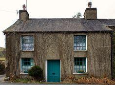 Farmhouse turquoise door