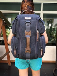 กระเป๋าเป้ Witzman Canvas Backpack  1,690 Ems Free