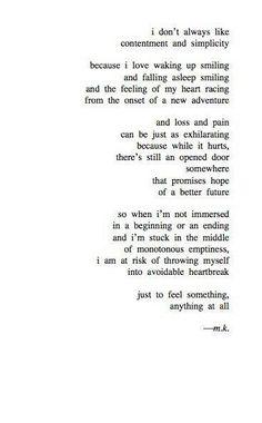 Monotonous Emptiness