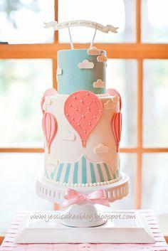 Hot Air Balloon Cake - Up Up and Away!