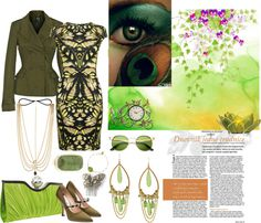 """""""Green Challenge II"""" by yours-styling-best-friend ❤ liked on Polyvore"""