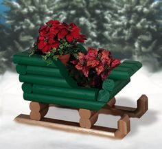 Landscape Timber Sleigh Woodcraft Pattern