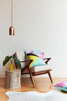 TASSEL+GAINE lookbook shot featuring the Primula cushion  I  Photographed by Nikole Ramsay & styled by Emma O'Meara  I  tasselandgaine.com