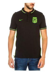 Camiseta Nike Polo Presentación Negro Atlético Nacional 2016