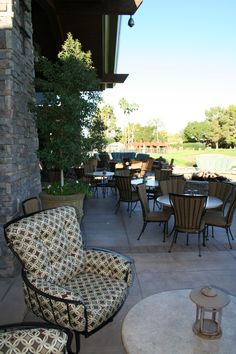 The OW Lee Monterra collection at The Arizona Country Club  My new patio furniture!