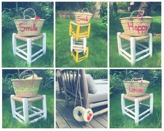 Which one do I chose ? Hum ?? All !! #Rattanbasket #basket #paniers #stool #handbag #summer #accessories http://wu.to/PHTEdL