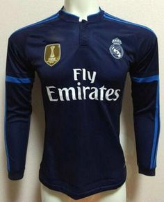 Real Madrid C.F 2015-2016 Season LS Third Soccer Jersey - Click Image to  Close 8a58cba954d9a