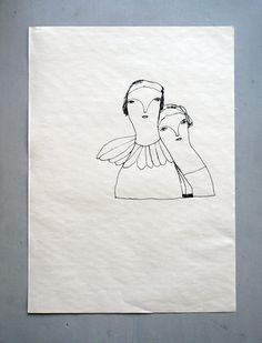 iris schwarz - black ink on paper - to whom do you belong? no. vi