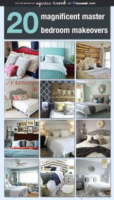 20 magnficent master bedroom makeovers on @hometalk curated by On the Banks of Squaw Creek