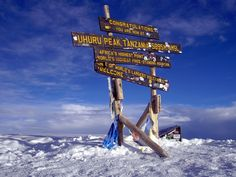 africa's highest point, uhuru peak, mount kilimanjaro