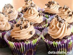 Sjokoladecupcakes med Dumlefluff