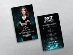 Exit realty business card template design exit realty business this luxurious exit realty business card template design features a blue black style with a large agent photo and a gold embossed text style friedricerecipe Gallery