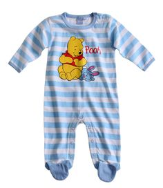pyjama bebe bleu raye winnie lourson disney par uncadeauunsourirecom - Armoire Bebe Winnie Lourson