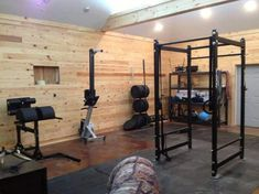 Having a garage gym in your house is amazing idea. If you already have a garage gym, then here are several ideas for your space. Garage Gym, Basement Gym, Small Garage, Dream Garage, Basement Remodeling, Dream Home Gym, Best Home Gym, Crossfit Home Gym, Sport Studio