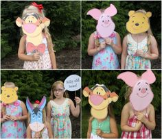 Hundred Acre Wood Picnic Party with Winnie the Pooh & Friends #disneywinnie   photo booth with the ears etc