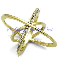 Atomic Sparkle Ion Gold Plated Stainless Steel Ring