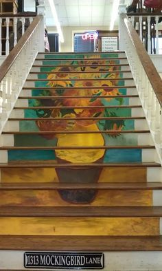 Parties That Rock: Painted Stairs Make Clever Art. Staircase Ideas: Staircase  Risers ...
