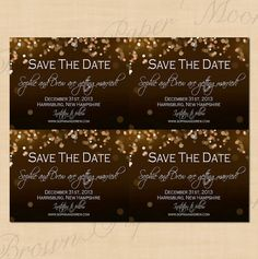 Champagne Bubbles Printable Wedding Save the by BrownPaperMoon