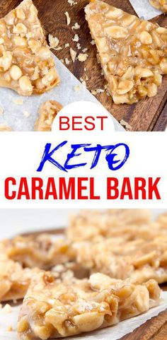 {Keto Candy} Easy simple ingredient Caramel Bark you will want to check out! Quick & simple ingredient ketogenic diet candies that make for a easy keto snack or keto dessert. Keto Foods, Ketogenic Recipes, Keto Snacks, Keto Friendly Desserts, Low Carb Desserts, Low Carb Recipes, Dessert Recipes, Candy Recipes, Recipes Dinner