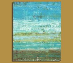 Abstract Beach Painting  From the Shore by SageMountainStudio, $169.00