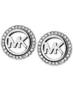 MICHAEL KORS Michael Kors Logo Pavé Stud Earrings. #michaelkors # all fashion jewelry