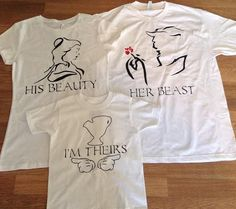 Free/Fast Shipping for US Beauty and The Beast with Chip Family T Shirts/Tank Tops.