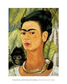 Frida Kahlo - Self-Portrait with Monkey, 1938