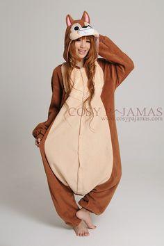 Animal Costume Chip Adult Onesie Kigurumi Pajamas
