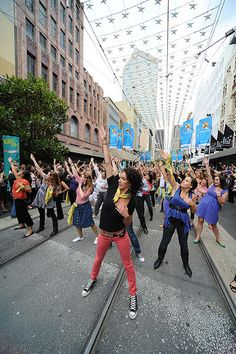 I want to be apart of a flash mob! I actually went to several practices for one and it was alot of fun, but the I had to go on a ski trip the actual day off the flash mob...
