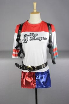 2016-Hot-Movie-Suicide-Squad-Harley-Quinn-T-Shirt-or-Shorts-Cosplay-Costume-Set