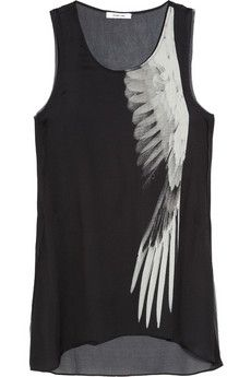 HELMUT LANG, WING PRINT SILK TOP: for september, when it's actually warm in sf.