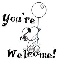 ♡ Snoopy You're Welcome! Snoopy Love, Charlie Brown And Snoopy, Snoopy And Woodstock, Happy Day Quotes, Thank You Quotes, Peanuts Cartoon, Peanuts Snoopy, Peanut Pictures, Welcome Images