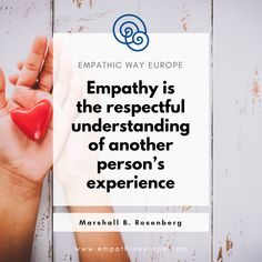 """""""Empathy is the respectful understanding of another person's experience."""" Marshall B. Rosenberg You can learn about empathy during our online NVC workshops. #marshallrosenberg #quote #empathy #nonviolentcommunication #nvc Nonviolent Communication, International Day, English, Quote, Learning, Quotation, Studying, Qoutes, English Language"""