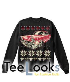Classic Car ugly Christmas Sweatshirt #tshirt #tanktop #hoodie #sweatshirt #quote #trending #bestselling #topselling #nerd #hobby #geek #meme #humor #funny #cool #lifestyle #text #classiccar #christmas