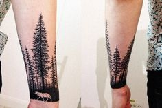 tattoo wolf Lonelywood wrist arm design