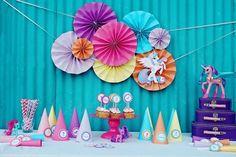 Photo 1 of My Little Pony / Birthday Twins Turn 1 Fiesta Little Pony, My Little Pony Cumpleaños, Little Poney, My Little Pony Birthday Party, 4th Birthday Parties, Birthday Party Decorations, Party Themes, Party Ideas, Birthday Ideas