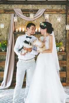 Wedding ceremony with pets | Maria Levitska Photography | see more on: http://burnettsboards.com/2015/01/adorable-russian-wedding/