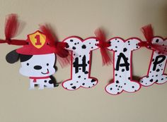 FREE SHIPPING Dalmatian puppy banner fireman banner by FalcoClan