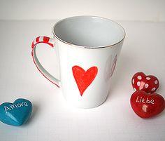 #Valentine's Day Mug Dollar Store Craft @savedbyloves
