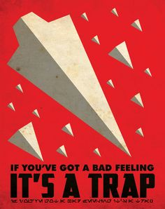 It's A Trap Poster por Justonescarf en Etsy
