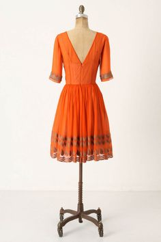Tangerine Flicker Dress