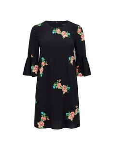 Charlie embroidered mini dress Black - Womens Fashion | Forever New