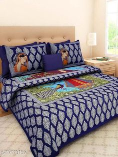 Checkout this latest Bedsheets_500-1000 Product Name: *Ravishing Stylish Bedsheets* Fabric: Cotton No. Of Pillow Covers: 2 Thread Count: 144 Multipack: Pack Of 1 Sizes: Queen (Length Size: 100 in, Width Size: 90 in, Pillow Length Size: 27 in, Pillow Width Size: 17 in)  Country of Origin: India Easy Returns Available In Case Of Any Issue   Catalog Rating: ★4 (481)  Catalog Name: Elegant Fancy Bedsheets CatalogID_3437923 C53-SC1101 Code: 753-17119197-807